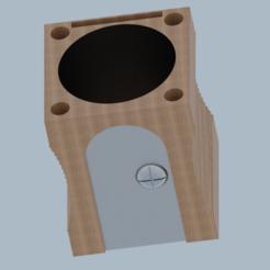 Archivos 3D gratis Bote para bolígrafos con forma de afilalápiz, KikeSM