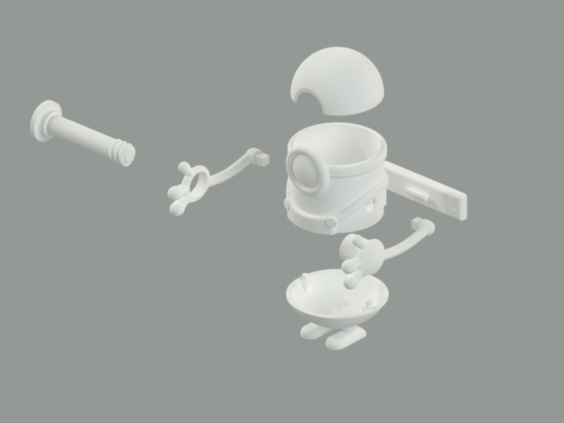Rollo4.png Download free STL file Toilet paper holder for children / support for the bathroom • 3D printing design, KikeSM