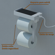 Download free 3D model Toilet paper holder with mobile charging base for complicated moments, KikeSM