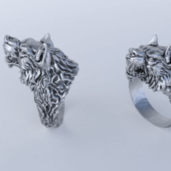 wolf_ring.png Download STL file wolf ring • Model to 3D print, Gavig