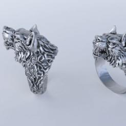 Download 3D printing models wolf ring, Gavig