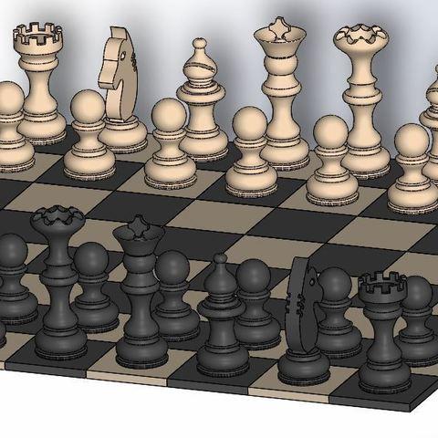 Chess_3.JPG Download free STL file Chess set / Chess set • 3D printable model, OC3D