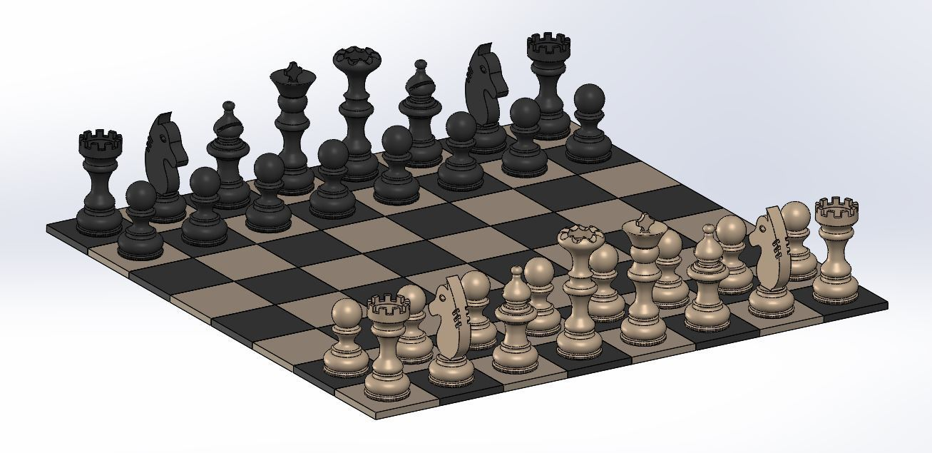 Chess_1.JPG Download free STL file Chess set / Chess set • 3D printable model, OC3D