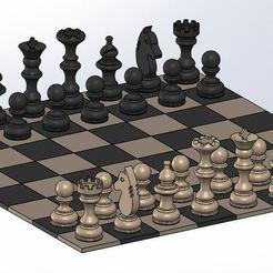 Télécharger fichier impression 3D gratuit Chess set/Jeu d'échec, OC3D
