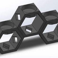 Download free 3D print files Honeycomb tealight holder, OC3D