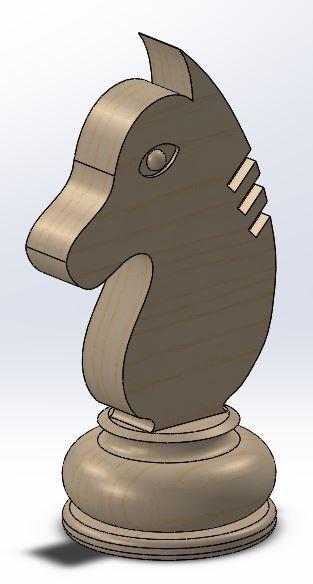 Knight.JPG Download free STL file Chess set / Chess set • 3D printable model, OC3D