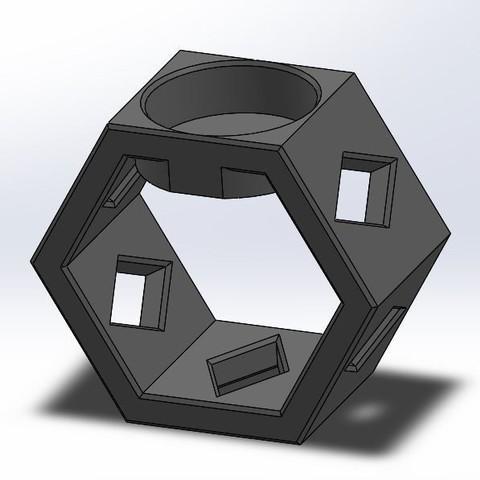 2.JPG Download free STL file Honeycomb tealight holder • Model to 3D print, OC3D