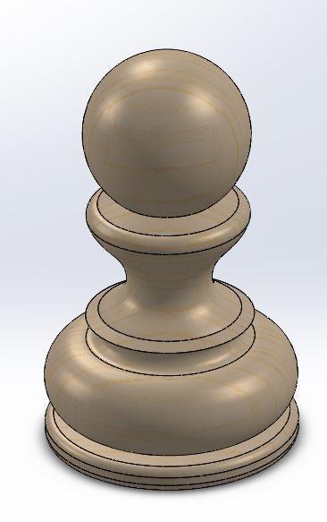 Pawn.JPG Download free STL file Chess set / Chess set • 3D printable model, OC3D
