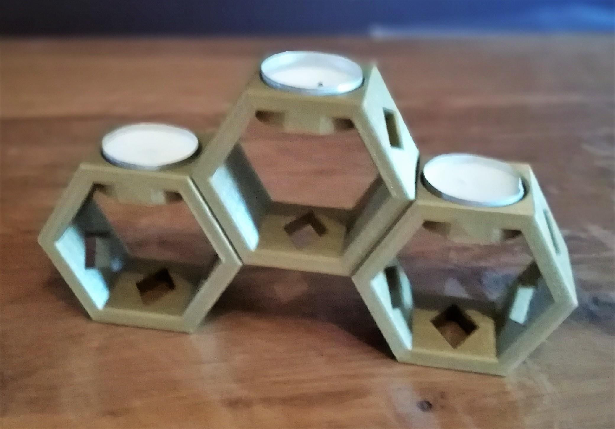 4.jpg Download free STL file Honeycomb tealight holder • Model to 3D print, OC3D