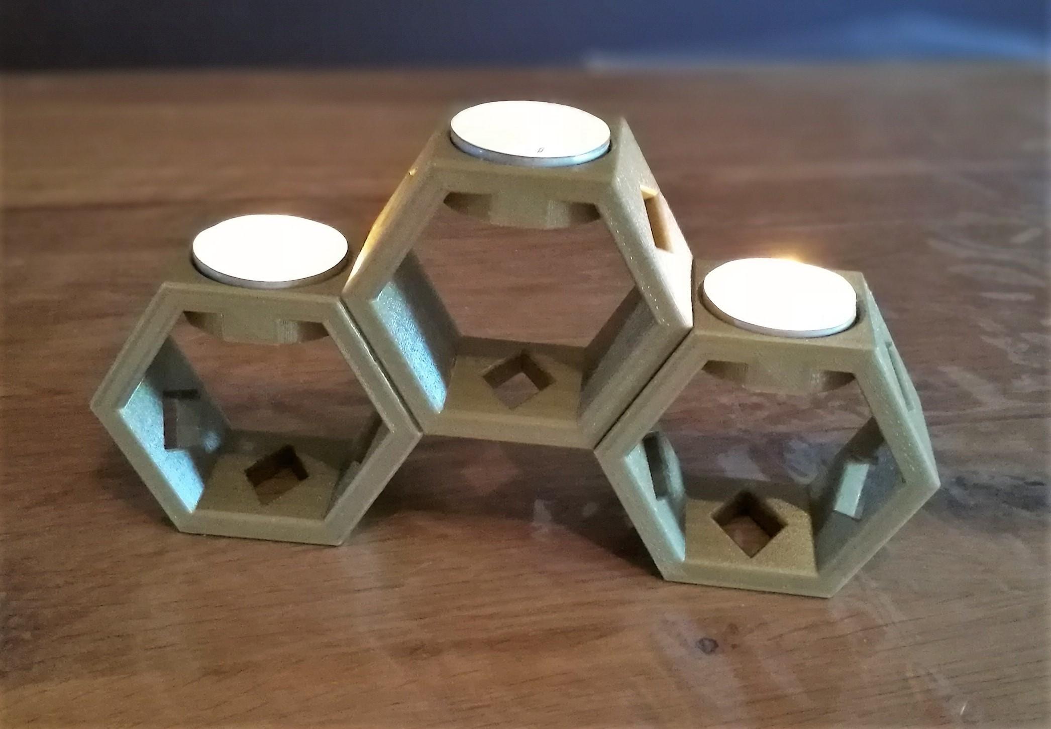 3.jpg Download free STL file Honeycomb tealight holder • Model to 3D print, OC3D