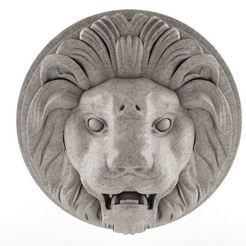 Download free 3D printing files Lion Sculpture Wall Hanger, 3DWP