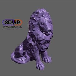 Download free 3D printing templates Lion, 3DWP