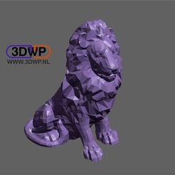 Télécharger fichier STL gratuit Lion • Modèle imprimable en 3D, 3DWP