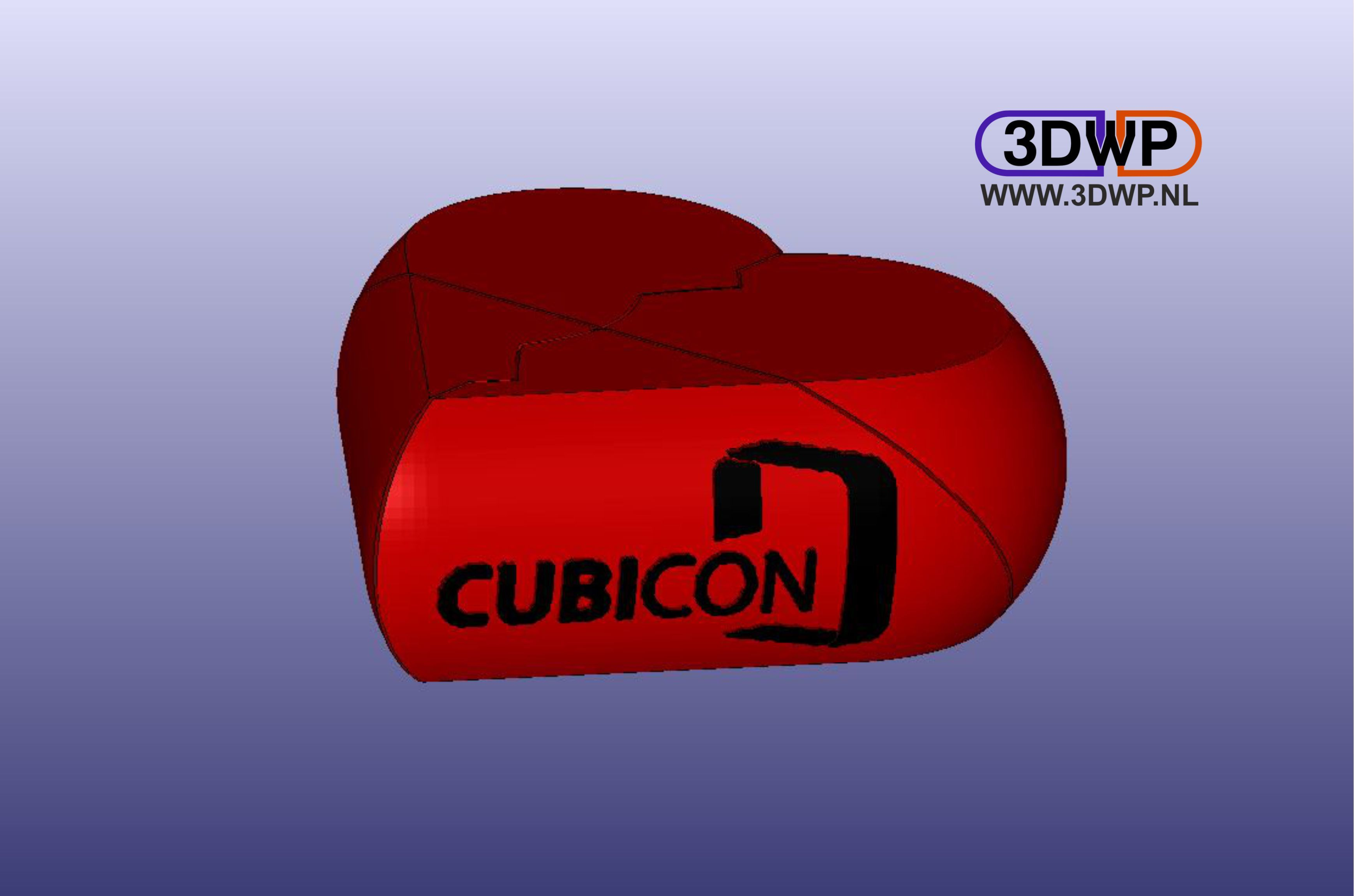 HeartCubicon.JPG Download free STL file Secret Cubicon Heart Box (Remix) • Model to 3D print, 3DWP