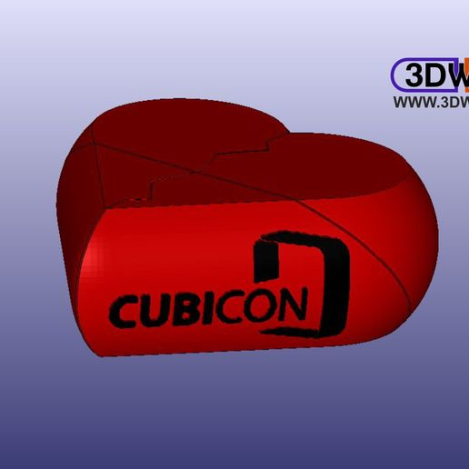 Download free 3D printer model Secret Cubicon Heart Box (Remix), 3DWP