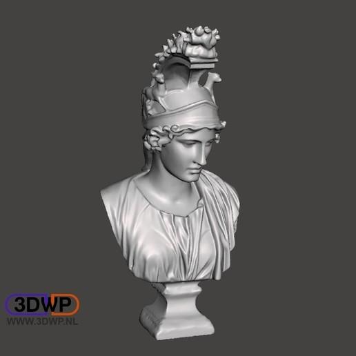 Télécharger fichier STL gratuit Scan 3D du buste grec (Dea Roma/Déesse Rome) • Design pour imprimante 3D, 3DWP