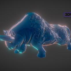 Impresiones 3D gratis Escultura de Toro, 3DWP