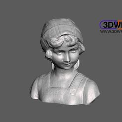 DutchGirlBust.JPG Download free STL file Dutch Girl Bust 3D Scan • 3D printing template, 3DWP