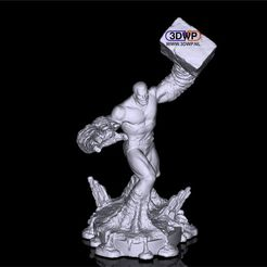 Download free 3D printing templates Sandman Sculpture (Statue 3D Scan), 3DWP