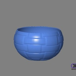 Download free 3D printer designs Woven Pattern Bowl, 3DWP