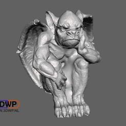 GargoyleSculptureSitting.JPG Télécharger fichier STL Sculpture de la gargouille (scan 3D de la statue) • Modèle pour imprimante 3D, 3DWP
