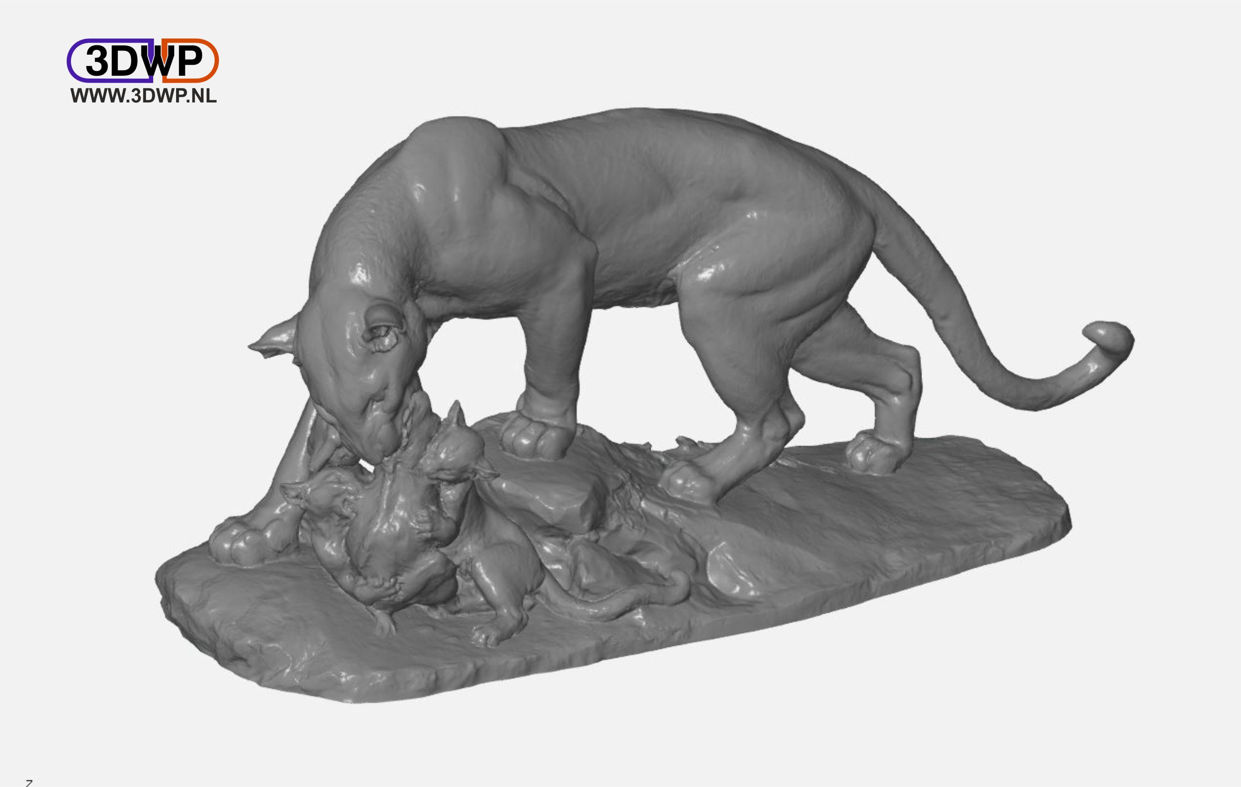 Panther.JPG Télécharger fichier STL gratuit Scan 3D de la sculpture de la panthère • Objet pour impression 3D, 3DWP
