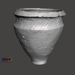CanwickUrn1.jpg Download free STL file Canwick Bronze Age Ceramic Urn 3D Scan • 3D printable object, 3DWP