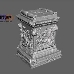 Roman_Marble_Plinth_1.jpg Download free STL file Roman Marble Plinth 3D Scan • 3D printable model, 3DWP