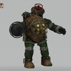 Download free 3D printer files Bioshock Big Daddy, 3DWP