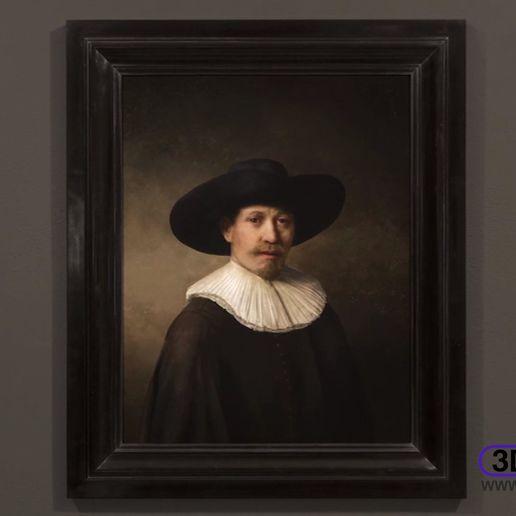 Download free STL file The Next Rembrandt Lithophane, 3DWP