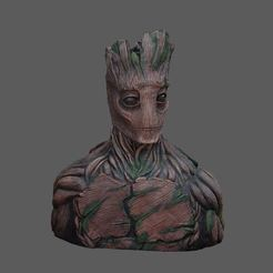 Download free 3D printing templates Groot Sculpture, 3DWP