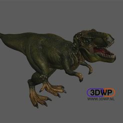 Download free 3D printing models Tyrannosaurus Rex Figurine 3D Scan, 3DWP