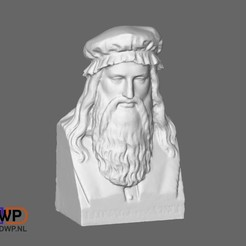 Download free 3D printing files Leonardo Da Vinci Bust, 3DWP