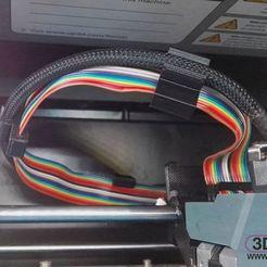 UpBoxRibbonCableClips.jpg Télécharger fichier STL gratuit Attache de câble ruban pour boîte montante • Objet pour imprimante 3D, 3DWP