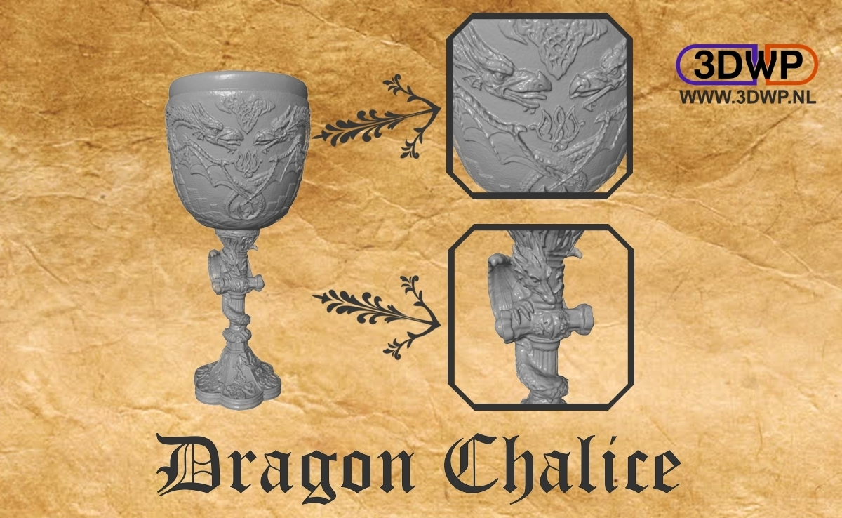 DragonChalice.jpg Download free STL file Dragon Chalice • 3D printer object, 3DWP