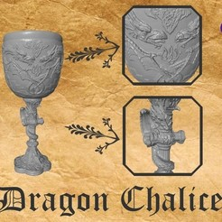 Download free STL file Dragon Chalice • 3D printer object, 3DWP