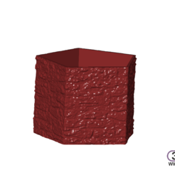Download free 3D printing files Flower Pot With Stones Pattern, 3DWP