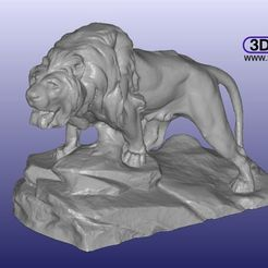 LionSculpture1.JPG Download free STL file Lion Sculpture 3D Scan • 3D printable template, 3DWP