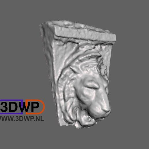 LionScan1.jpg Télécharger fichier STL gratuit Scan 3D de la sculpture du lion (suspension murale) • Modèle imprimable en 3D, 3DWP
