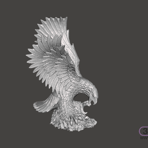 Eagle.PNG Download STL file Eagle Sculpture • 3D printing object, 3DWP