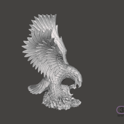 Download STL file Eagle Sculpture • 3D printing object, 3DWP