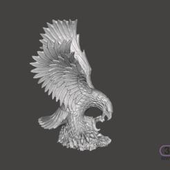 Eagle.PNG Télécharger fichier STL Sculpture d'aigle • Design pour impression 3D, 3DWP