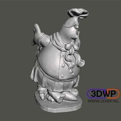 Download free 3D printer designs Chicken Figurine (Statue 3D Scan), 3DWP