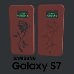 Télécharger modèle 3D gratuit Samsung Galaxy S7 Rose Case, 3DWP