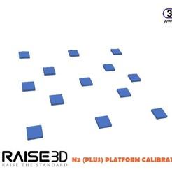 Raise3DN2PlatformTest.JPG Download free STL file Raise3D N2 (Plus) Platform Calibration Test • Design to 3D print, 3DWP