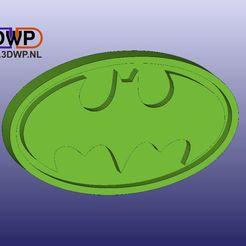Download free STL files Batman Logo Wall Hanger, 3DWP