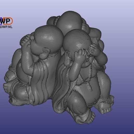 Télécharger fichier STL Statues de Bouddha (combinées avec le MeshMixer), 3DWP