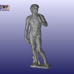 Download free STL files Blocky David By Michelangelo, 3DWP