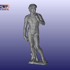 Télécharger fichier imprimante 3D gratuit Blocky David par Michel-Ange, 3DWP