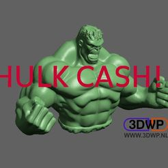 HulkPiggyBank.jpg Download free STL file Hulk Piggy Bank • 3D print model, 3DWP